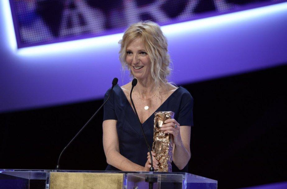L'Académie des arts et techniques du cinéma a honorée Sandrine Kiberlain pour son rôle dans le long métrage 9 mois ferme. (Photo AFP)