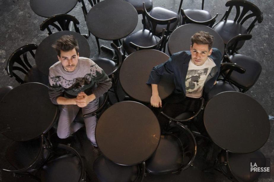 Les deux auteurs de Descendance: Maxime Carbonneau et... (PHOTO IVANOH DEMERS, LA PRESSE)