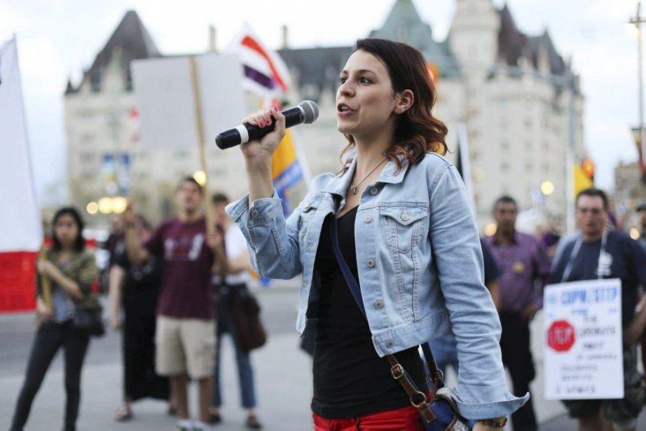 Anne-Marie Roy préside la Fédération étudiante de l'Université... (Photo Bew Powless, La Presse Canadienne)