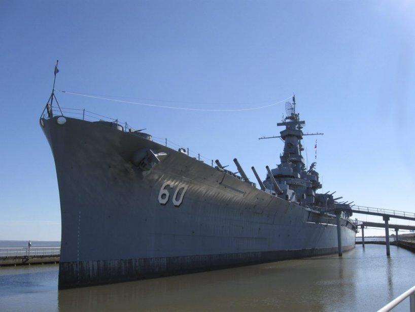 Le cuirassé «USS Alabama», amarré pour de bon à Mobile. (PHOTO MARIE TISON, LA PRESSE)