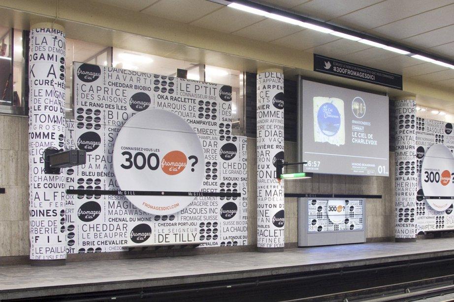 La campagne d'affichage des Fromages d'ici de Cossette,... (PHOTO FOURNIE PAR COSSETTE)