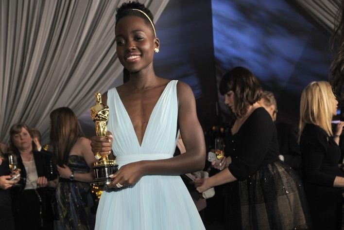 Lupita Nyong'o aux Oscars.... (Photo: AP)