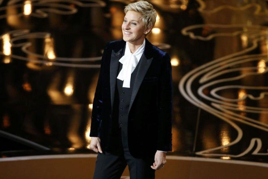 Ellen DeGeneres animait la soirée des Oscars pour... (Photo: Reuters)