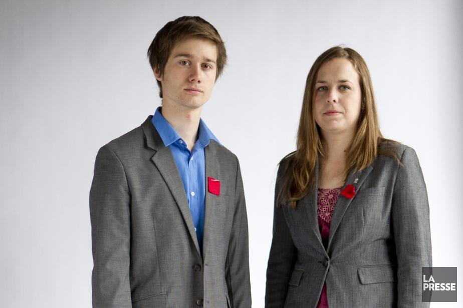 Léo Bureau-Blouin et Martine Desjardins, au printemps 2012.... (Photo Marco Campanozzi, archives La Presse)