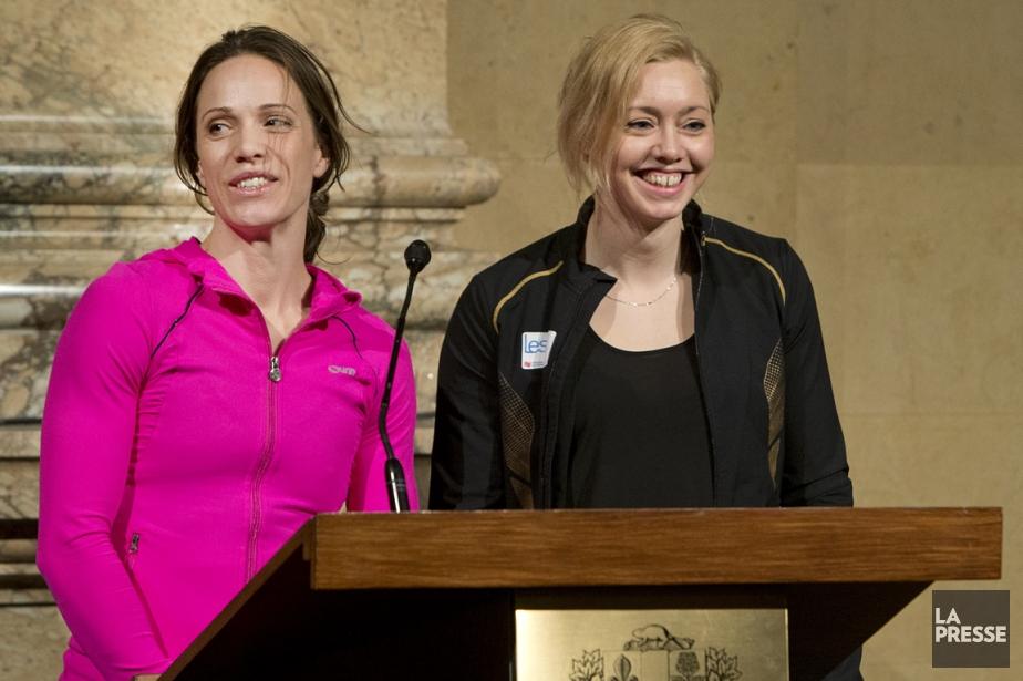 Jessica Zelinka et Karine Belleau-Béliveau participeront aux championnats... (Photo Robert Skinner, La Presse)