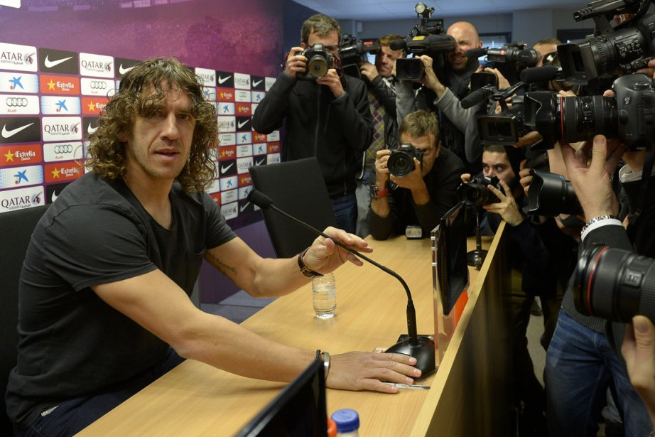 Le défenseur Carles Puyol est le capitaine du... (Photo Lluis Gene, AFP)