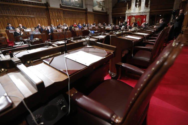 Le siège vide du sénateur suspendu Mike Duffy,... (Photo: Reuters)