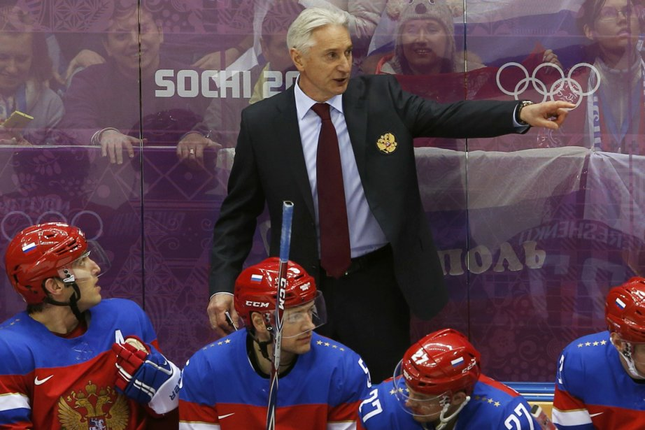 L'entraîneur de l'équipe de hockey de la Russie,... (Photo Grigory Dukor, Reuters)