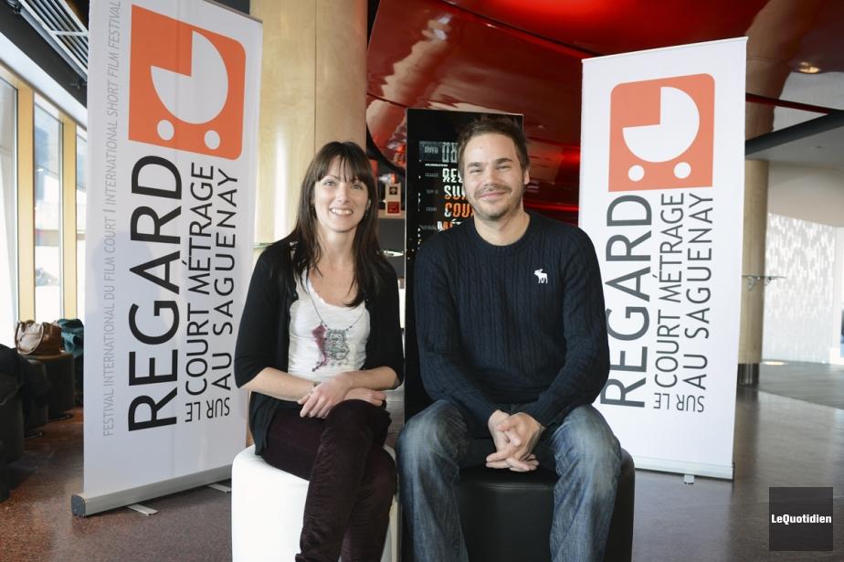 La directrice de la programmation, Mélissa Bouchard, et... (Photo: Le Quotidien)