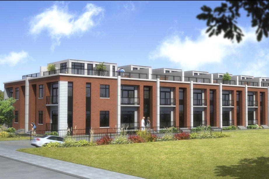Le complexe Apero Condos comprendra 16 maisons en rangée et 210 appartements en copropriété, qui devraient se concrétiser en quatre phases. (Illustration fournie par Apero Condos)