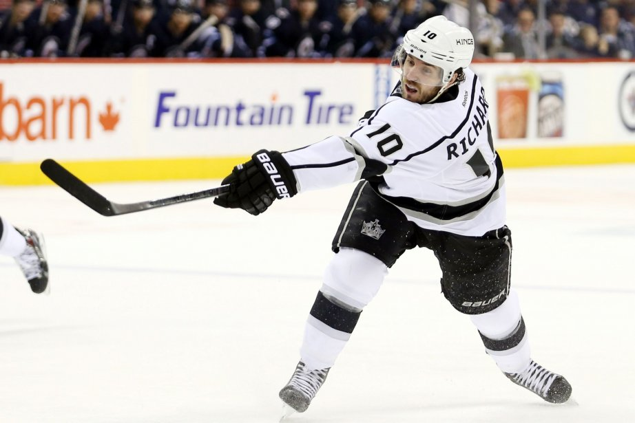 Mike Richards des Kings a marqué le but... (Photo Bruce Fedyck, USA Today Sports)