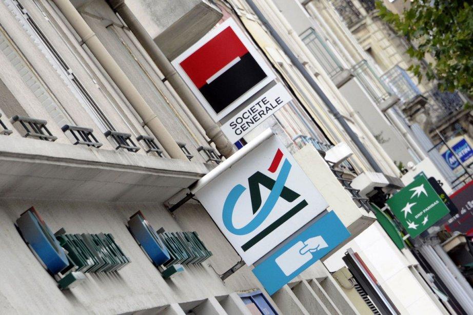 Les enseignes des trois banques françaises soupçonnées: le... (Photo Damien Meyer, archives AFP)