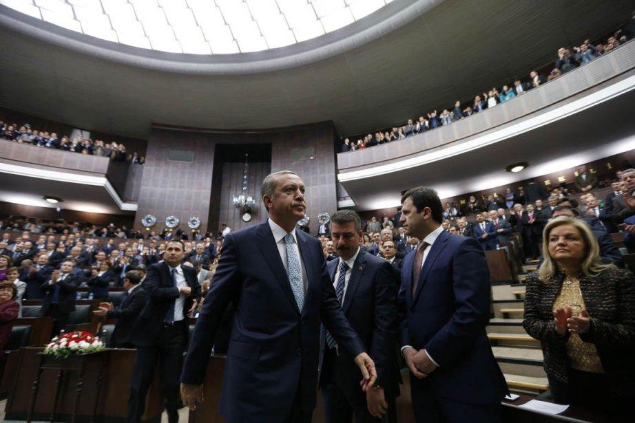 Le premier ministre Recep Tayyip Erdogan se trouve... (PHOTO UMIT BEKTAS, REUTERS)