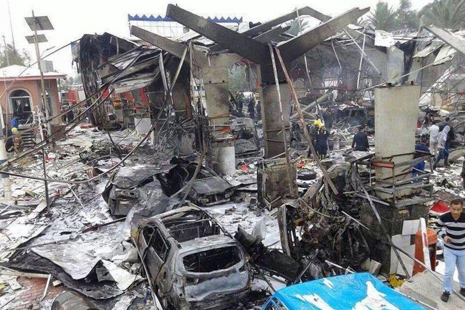 L'explosion du minibus s'est produite à un moment... (Photo AFP)