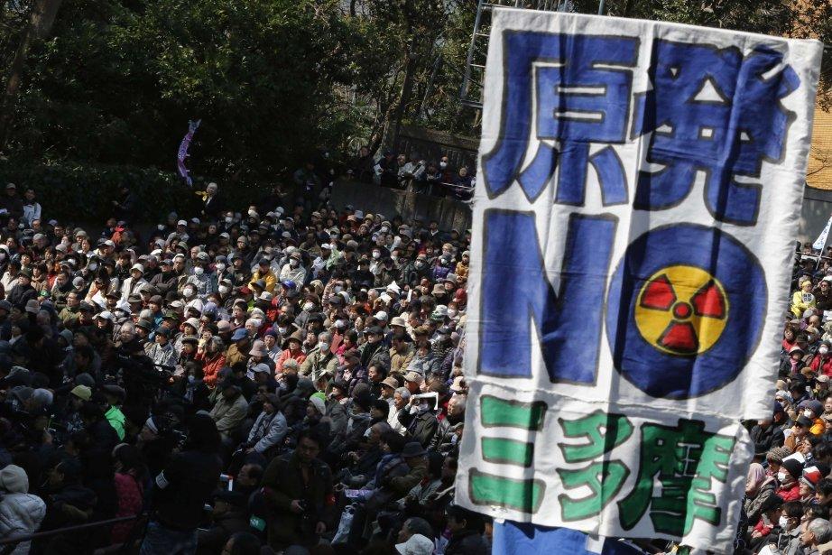 Les manifestants ont fustigé l'industrie nucléaire et le... (Photo YUYA SHINO, Reuters)