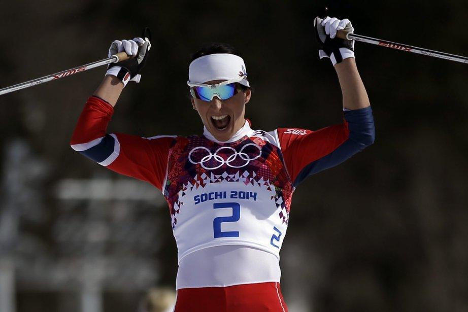 Marit Bjoergen a aussi gagné le 30 km... (Photo Gregorio Borgia, archives AP)