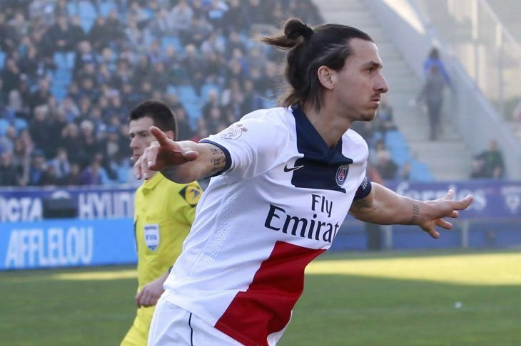 Zlatan Ibrahimovic a compté son 23e but de... (PHOTO PASCAL POCHARD CASABIANCA, AFP)