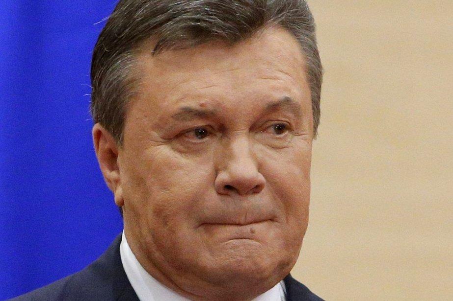Viktor Ianoukovitch lors de son point de presse.... (Photo Reuters)