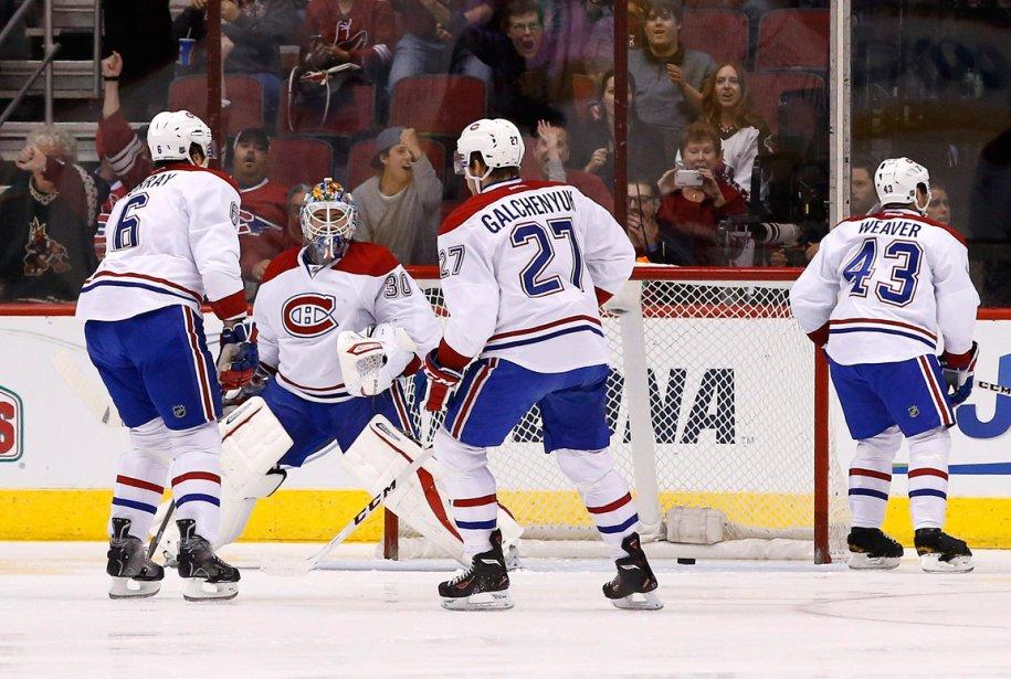 Le Canadien a démontré des signes d'essoufflement sur... (Photo Ross D. Franklin, AP)