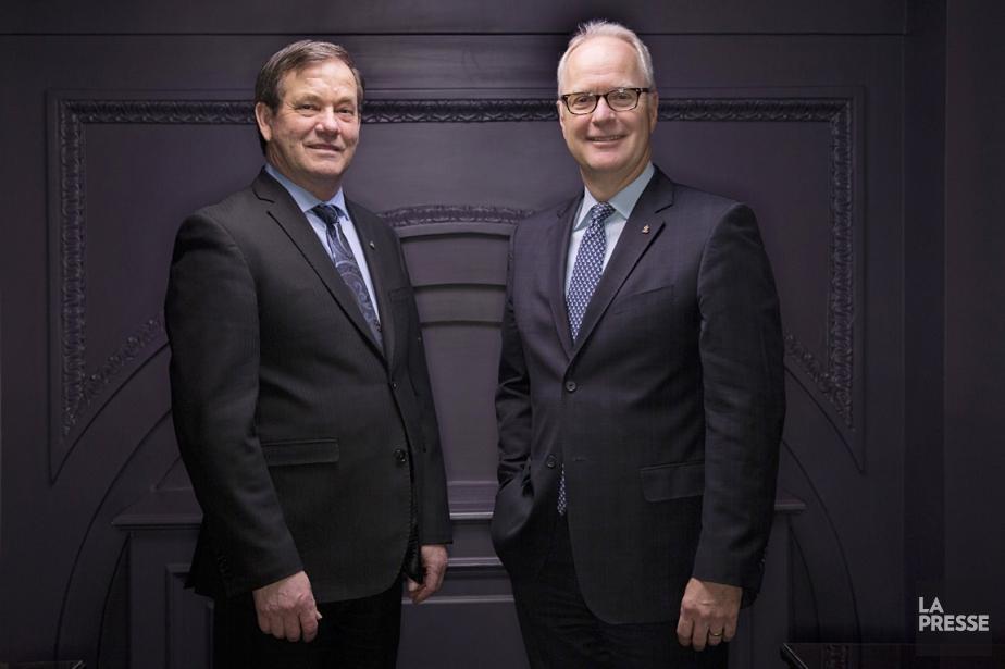 Robert Coallier (à droite), qui est PDG d'Agropurdepuis... (PHOTO DAVID BOILY, LA PRESSE)