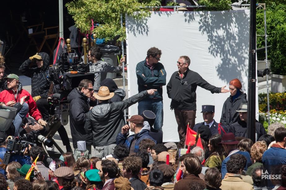 Tournage de X-Men à Montréal.... (Photo: Édouard Plante-Fréchette, archives La Presse)