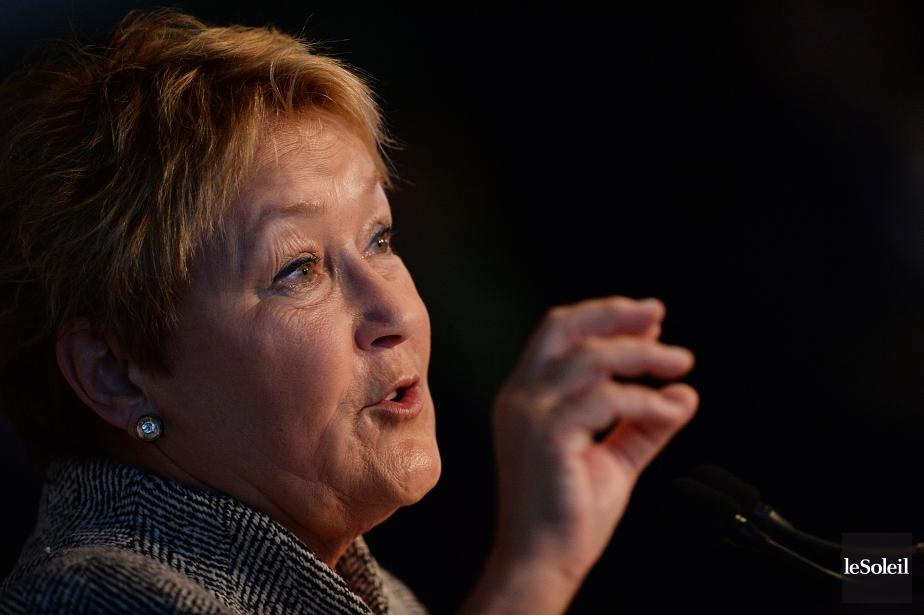 La chef du Parti québécois, Pauline Marois... (Photo Patrice Laroche, Le Soleil)