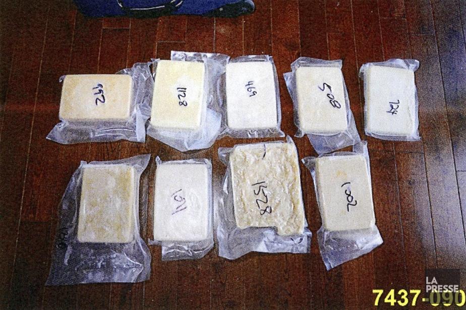 La méthamphétamine saisie était sous forme de briques... (Photo La Presse)