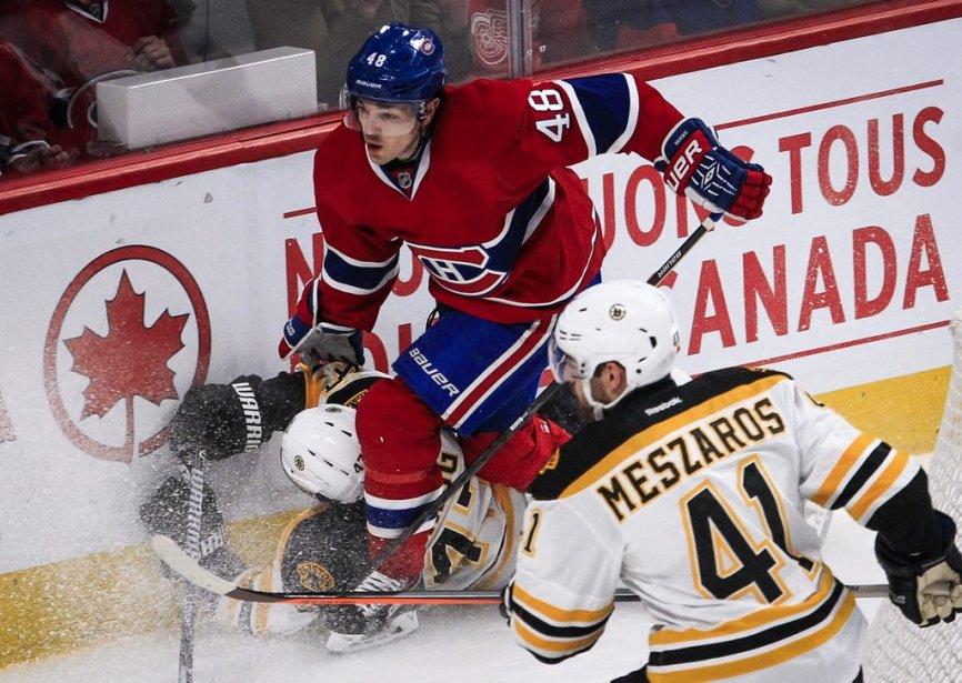 Daniel Brière sonne la charge contre les Bruins. (PHOTO OLIVIER PONTBRIAND LA PRESSE)