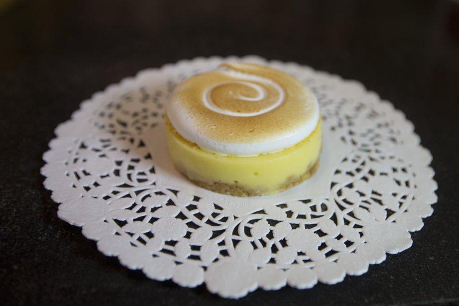 La crème de la tartelette de Fabrique Arhoma est faite avec de la lime plutôt que du citron. (Photo Ivanoh Demers, La Presse)