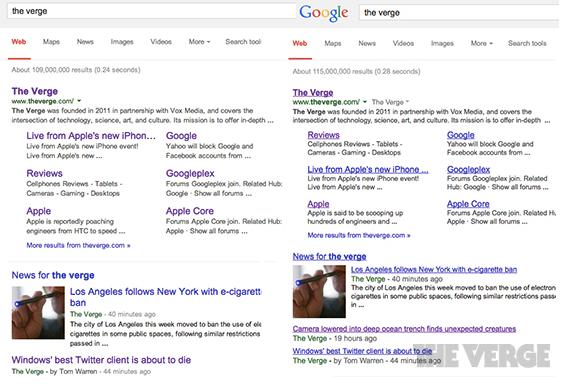 Disparus, les liens soulignés dans la page de recherche de Google!