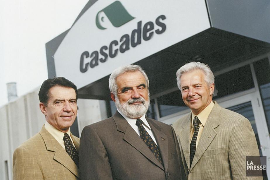 Les frères Laurent, Bernard et Alain Lemaire, photographiés... (Photo fournie par Cascades)