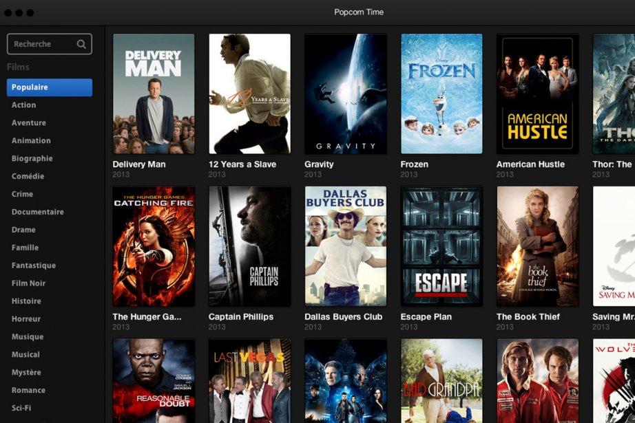Le nouveau logiciel Popcorn Time fait trembler le... (Capture d'écran du site web de Popcorn Time)
