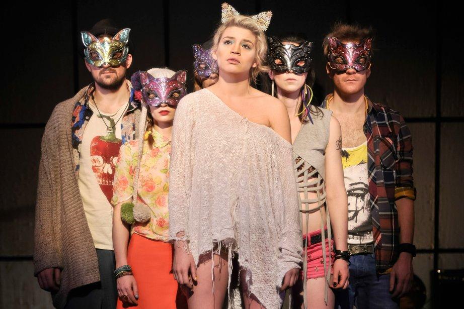 Les jeunes comédiens de l'adaptation théâtrale de Testament,... (Photo: fournie par le Quat'Sous)