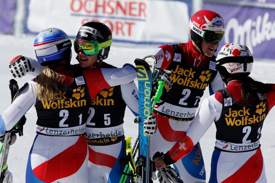 Les membres de l'équipe de la Suisse Denise... (Photo Leonhard Foeger, Reuters)