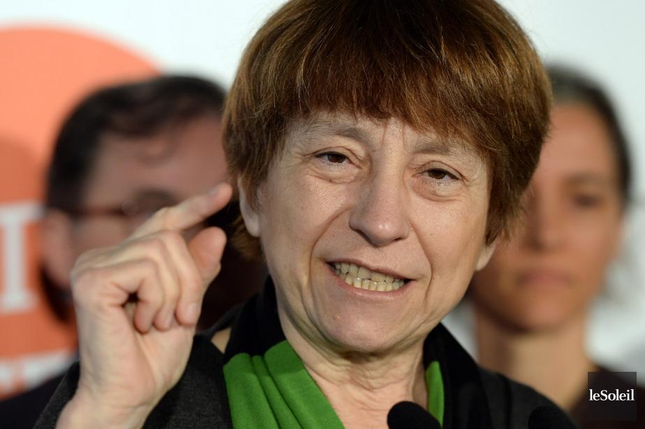 Françoise David, co-porte-parole de Québec solidaire.... (Photo Érick Labbé, le Soleil)