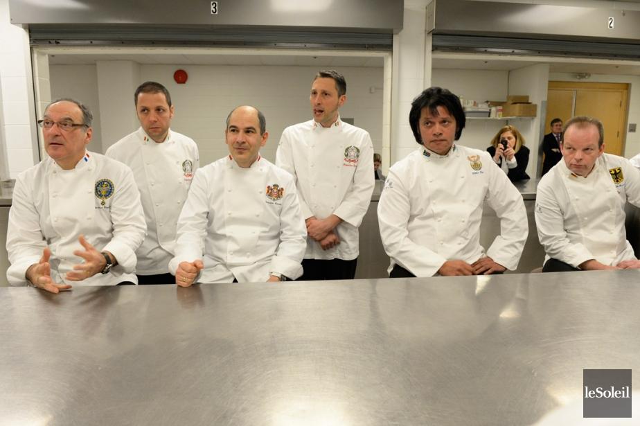 Quelques-uns des chefs qui ont participé à la... (Photo Caroline Grégoire, Le Soleil)