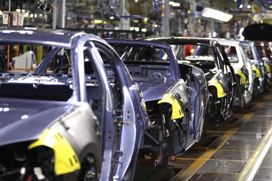 En février, la production industrielle aux États-Unis a... (PHOTO CARLOS OSORIO, AP)