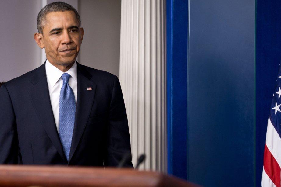 Le président Barack Obama, à la Maison-Blanche, le... (PHOTO NICHOLAS KAMM, AFP)