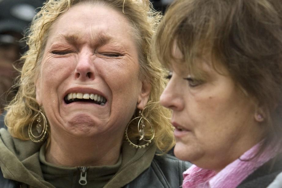 La mère d'une victime lors du procès dans... (Photo ANDY CLARK, Archives Reuters)