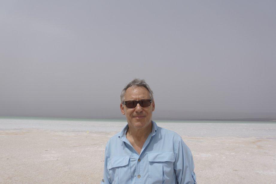 Bruno Rodi, en 2013, lors de expédition au lac Assal, à 153 mètres sous le niveau de la mer, le point émergé le plus bas du monde. (Photo fournie par Bruno Rodi)
