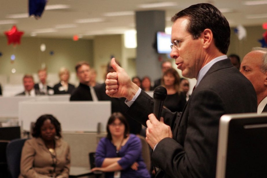 Randall Stephenson, chef de la direction d'AT&T, a... (Photo Jim R. Bounds, archives Bloomberg News)