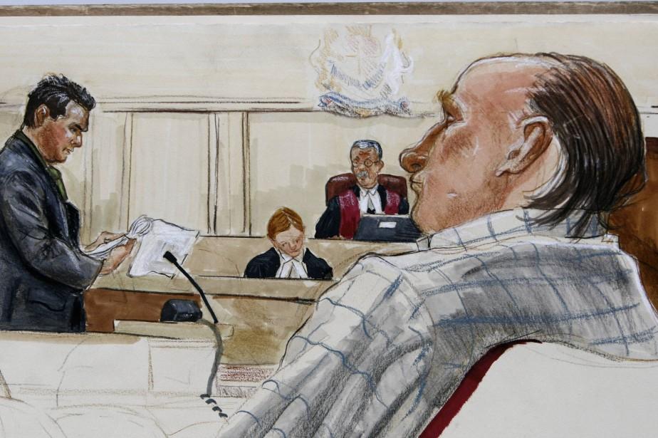 Robert Pickton a avoué à un policier en... (Dessin FELICITY DON, Reuters)