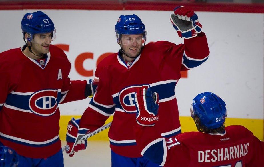 Thomas Vanek a débloqué offensivement de belle manière avec sa nouvelle équipe; l'attaquant-étoile a inscrit ses trois premiers buts dans l'uniforme du Canadien mardi soir. (André Pichette, La Presse)