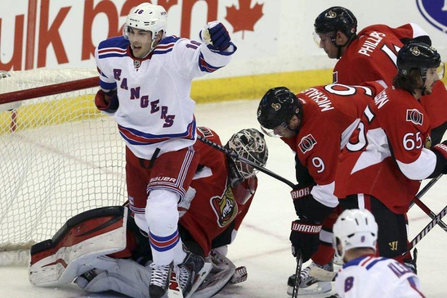 Les Rangers de New York ont marqué quatre fois en deuxième, en... (Photo: PC)