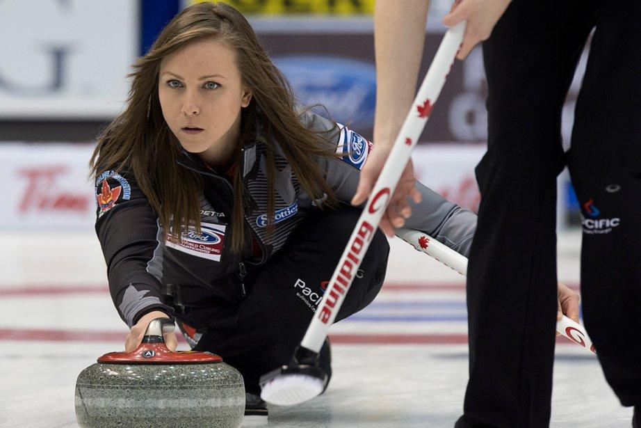 La skip de l'équipe canadienne, Rachel Homan.... (Photo Andrew Vaughan, PC)