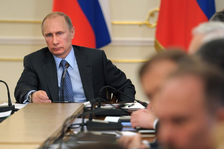Le président russe Vladimir Poutine qualifie l'effondrement de... (Photo: AP)