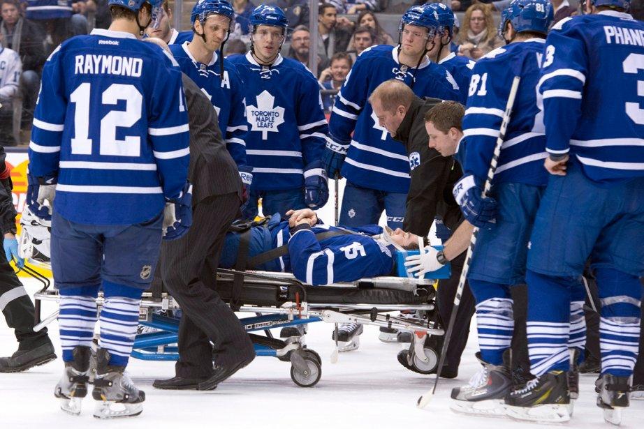 Le défenseur des Maple Leafs de Toronto Paul... (Photo Frank Gunn, PC)