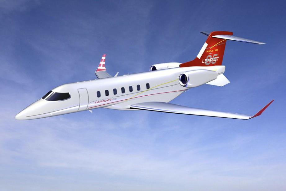 Le biréacteur Learjet 85 de Bombardier.... (Photo fournie par Bombardier)