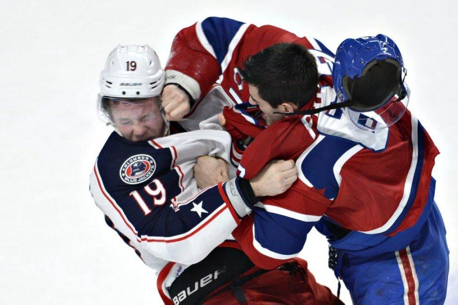 Une bagarre a éclaté entre Max Pacioretty et Ryan Johanssen. (Photo Bernard Brault, La Presse)