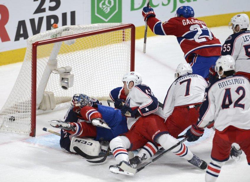 Sergei Bobrovsky demeure impuissant sur cette séquence. (Photo Bernard Brault, La Presse)